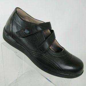 Drew Orchid Black Leather Diabetic Orthopedic Shoe